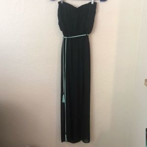 Windsor black strapless high low dress small